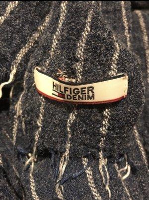 Tommy Hilfiger Denim Écharpe en tricot beige clair-bleu acier