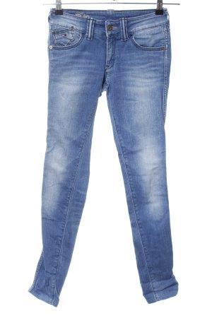 Tommy Hilfiger Denim Skinny Jeans blau-weiß Farbverlauf Casual-Look