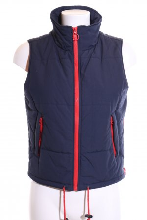 Tommy Hilfiger Denim Quilted Gilet blue-red casual look