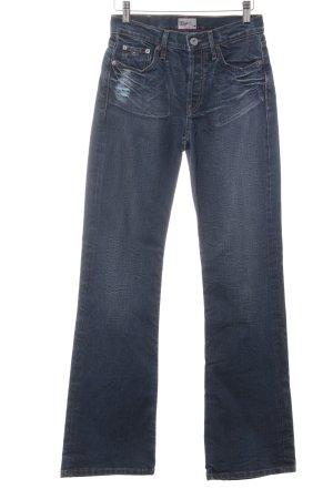 Tommy Hilfiger Denim Straight-Leg Jeans dunkelblau Washed-Optik