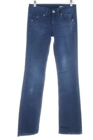 Tommy Hilfiger Denim Straight-Leg Jeans dunkelblau-weiß klassischer Stil