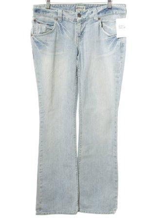 Tommy Hilfiger Denim Straight-Leg Jeans hellblau Used-Optik