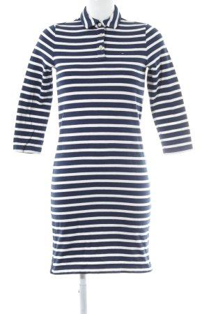 Tommy Hilfiger Denim Gebreide jurk donkerblauw-wit gestreept patroon