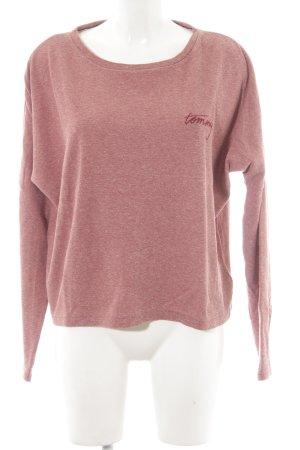 Tommy Hilfiger Denim Sweatshirt roségoud gestippeld casual uitstraling