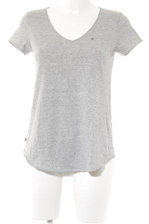 Tommy Hilfiger Denim T-shirt lichtgrijs gestippeld casual uitstraling