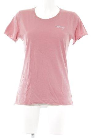 Tommy Hilfiger Denim T-Shirt lachs-rosa schlichter Stil