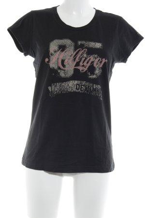 Tommy Hilfiger Denim T-Shirt platzierter Druck Casual-Look