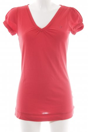 Tommy Hilfiger Denim T-shirt rood casual uitstraling