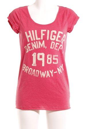 Tommy Hilfiger Denim T-Shirt rot-hellrot Casual-Look