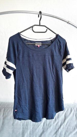 Tommy Hilfiger Denim T-shirt donkerblauw-wit
