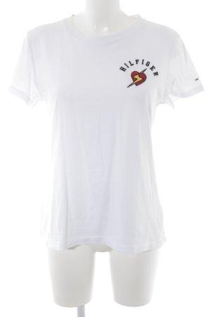 Tommy Hilfiger Denim T-shirt geborduurde letters casual uitstraling