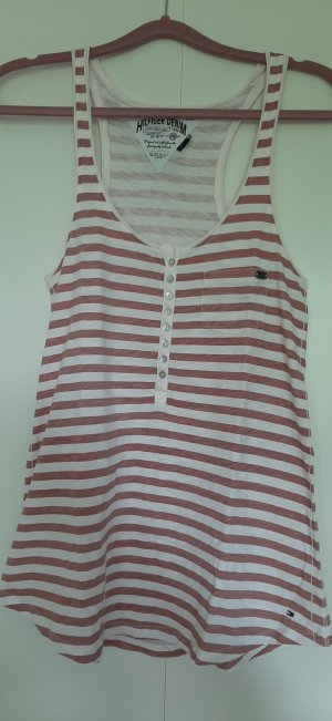 Tommy Hilfiger Denim Camisa de rayas rosa empolvado-crema