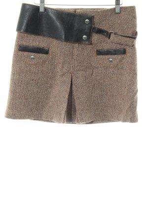 Tommy Hilfiger Denim Tweed rok bruin gestippeld casual uitstraling