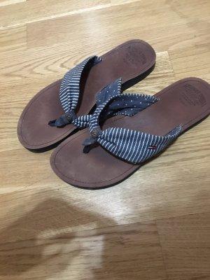 Tommy Hilfiger Toe-Post sandals dark blue-white