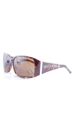 Tommy Hilfiger eckige Sonnenbrille dunkelbraun-hellbraun Animalmuster