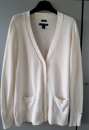 Tommy Hilfiger Edle Strickjacke Cardigan Creme-weiß XS 100% Prima Cotton