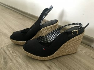 Tommy Hilfiger Wedge Sandals black-cream
