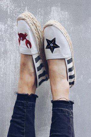 Tommy Hilfiger Espadrille sandalen gestreept patroon Geborduurd detail