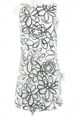 Tommy Hilfiger Manteljurk licht beige-zwart bloemenprint zakelijke stijl