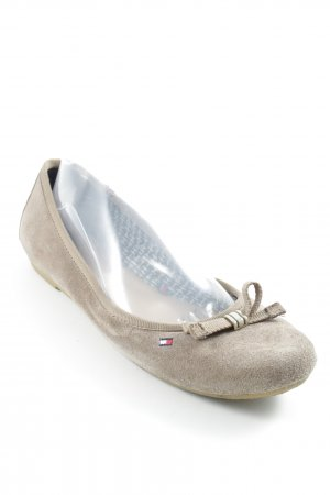 Tommy Hilfiger Opbouwbare ballerina's beige casual uitstraling