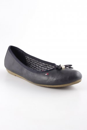 Tommy Hilfiger faltbare Ballerinas dunkelblau Casual-Look