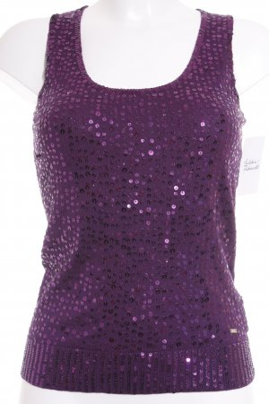 Tommy Hilfiger Cardigan en maille fine violet élégant