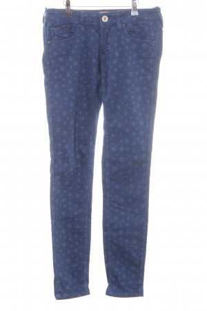 Tommy Hilfiger Pantalón de cinco bolsillos azul-azul acero Patrón de estrellas