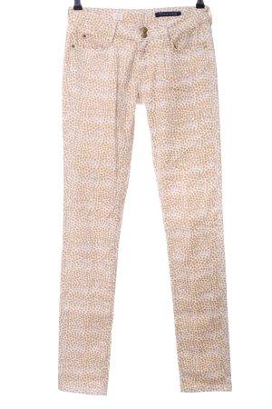 Tommy Hilfiger Pantalon cinq poches blanc cassé-blanc motif de tache