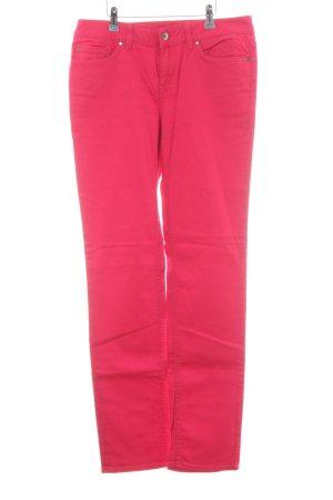 Tommy Hilfiger Pantalone cinque tasche rosso lampone Stile anni '70