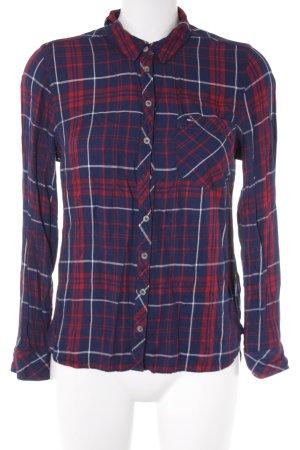 Tommy Hilfiger Flanellen hemd donkerblauw-donkerrood geruite print