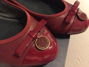 Tommy Hilfiger Flats Ballerinas Bordeaux Rot 39