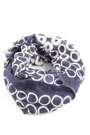 Tommy Hilfiger Fringed Scarf blue-white spot pattern casual look