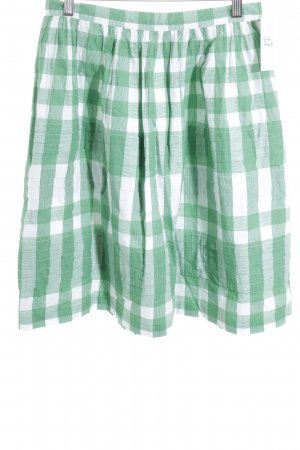 Tommy Hilfiger Flared Skirt green-white check pattern street-fashion look