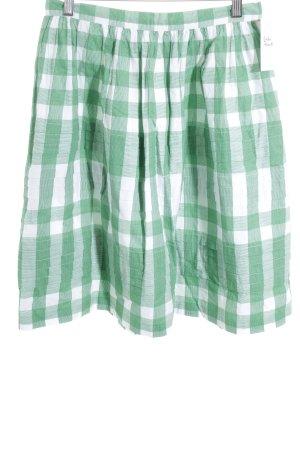 Tommy Hilfiger Glockenrock grün-weiß Karomuster Street-Fashion-Look