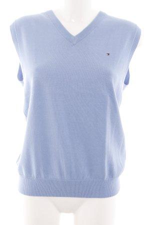 Tommy Hilfiger Golf Cardigan en maille fine bleu style décontracté