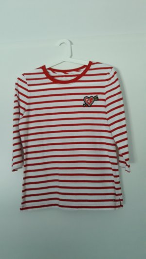 Tommy Hilfiger Manica lunga bianco-rosso neon Cotone