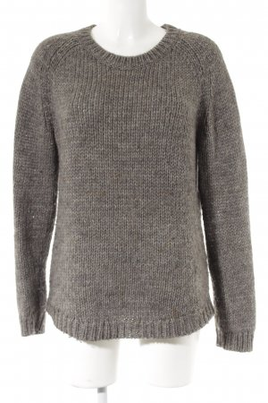 Tommy Hilfiger Grobstrickpullover graubraun meliert Casual-Look