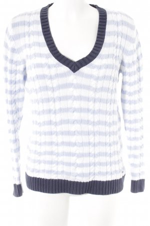 Tommy Hilfiger Grobstrickpullover Streifenmuster Casual-Look