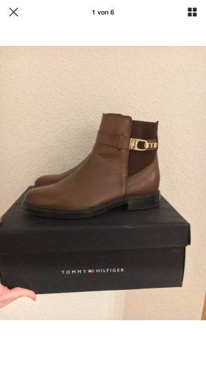 Tommy Hilfiger, Größe 37, Chelsea Boots, braun Cognac,