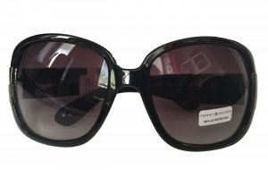 Tommy Hilfiger Angular Shaped Sunglasses black synthetic material