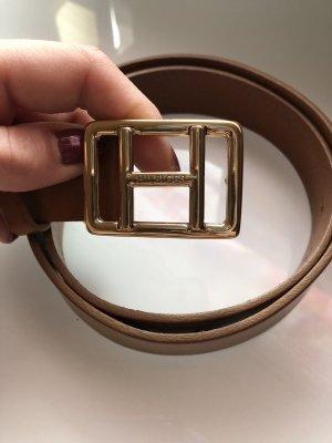 Tommy Hilfiger Cintura di pelle sabbia-cognac