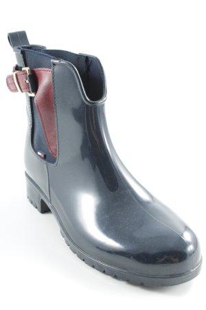 Tommy Hilfiger Wellies dark red-dark blue street-fashion look