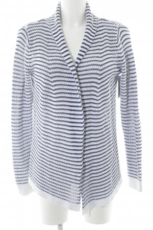 Tommy Hilfiger Cardigan en crochet blanc-bleu motif rayé style décontracté