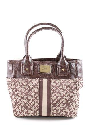 Tommy Hilfiger Handtasche bronzefarben-creme Schriftzug gedruckt Casual-Look