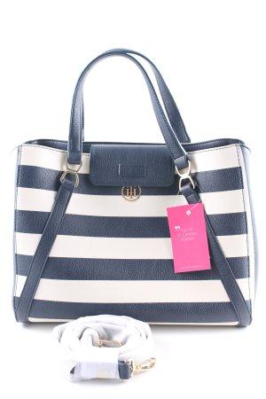 Tommy Hilfiger Handtasche dunkelblau-weiß Streifenmuster Casual-Look