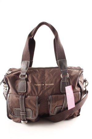 Tommy Hilfiger Handtasche dunkelbraun-dunkelgrün Casual-Look