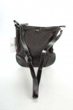 Tommy Hilfiger Handtasche dunkelbraun Monogram-Muster klassischer Stil