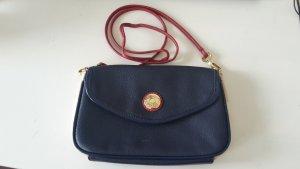 Tommy Hilfiger Handtasche kleine Tasche blau Leder gold crossover