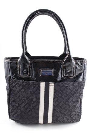 Tommy Hilfiger Handtasche schwarz-wollweiß grafisches Muster Casual-Look