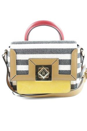 Tommy Hilfiger Handtasche weiß-dunkelblau Streifenmuster klassischer Stil